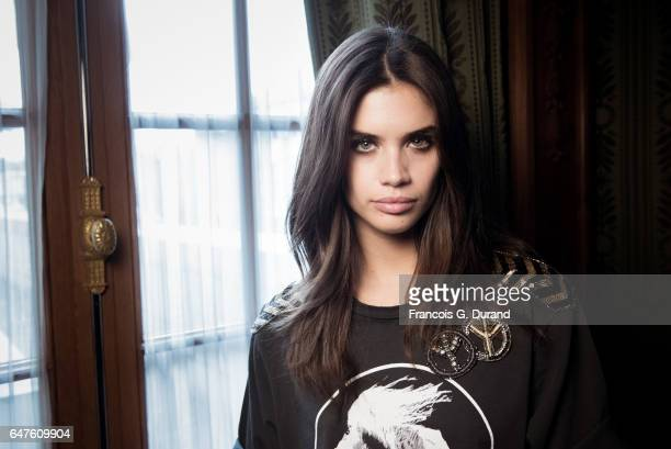 Model Sara Sampaio poses backstage before the Redemption show as part of the Paris Fashion Week Womenswear Fall/Winter 2017/2018 on March 3 2017 in...