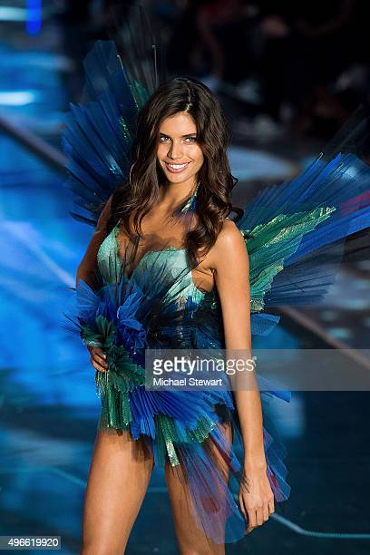 Model Sara Sampaio walks the runway during the 2015 Victoria's Secret Fashion Show at the Lexington Armory on November 10 2015 in New York City