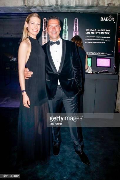Model Sarah Brandner and Henryk Grund attend the Duftstars at Kraftwerk Mitte on May 11 2017 in Berlin Germany