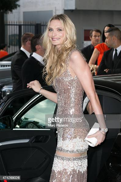 Model Sarah Marshall is seen leaving the Grand Hyatt Cannes Hotel Martinez during the 68th annual Cannes Film Festival on May 21 2015 in Cannes France