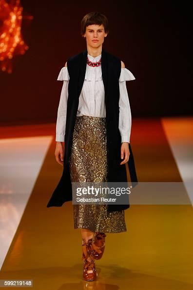 Model Saskia de Brauw walks the runway at the Zalando fashion show during the Bread Butter by Zalando at arena Berlin on September 4 2016 in Berlin...