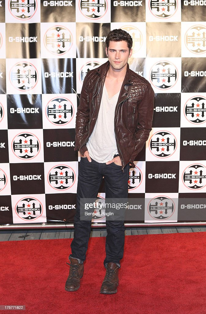 Model Sean O'Pry attends G-Shock - Shock The World 2013 at Basketball City - Pier 36 - South Street on August 7, 2013 in New York City.