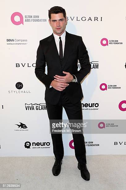 Model Sean O'Pry attends the 24th Annual Elton John AIDS Foundation's Oscar Viewing Party on February 28 2016 in West Hollywood California