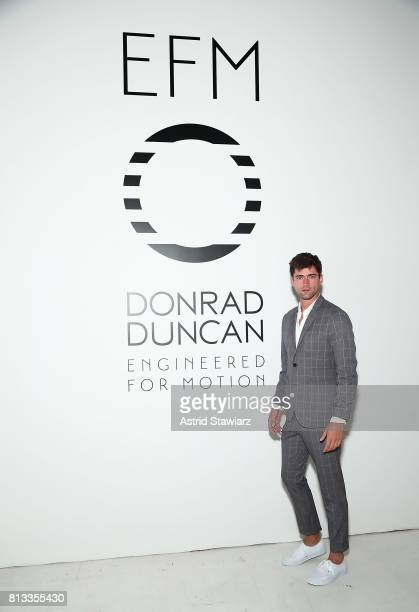 Model Sean O'Pry attends the EFM Engineered For Motion Spring/Summer 2018 Runway Show at Skylight Clarkson Square on July 12 2017 in New York City