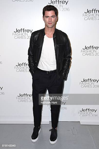 Model Sean O'Pry attends the Jeffrey Fashion Cares 13th Annual Fashion Fundraiser at the Intrepid SeaAirSpace Museum on April 4 2016 in New York City