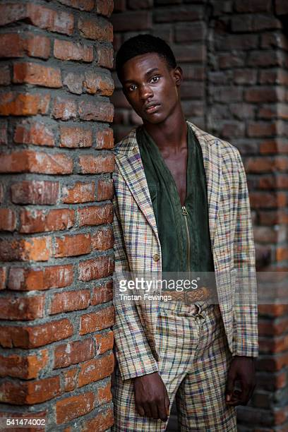 A model seen backstage ahead of the Missoni show during Milan Men's Fashion Week Spring/Summer 2017 on June 19 2016 in Milan Italy