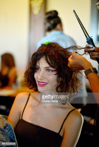 Model seen backstage at the Wolk Morais Collection 5 Fashion Show at Yamashiro on May 22 2017 in Los Angeles California