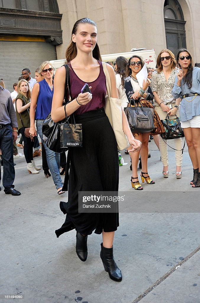 A model seen outside the Rag and Bone show on September 7, 2012 in New York City.