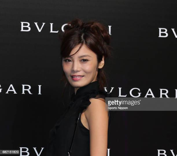 Model Seina Shimabukuro attends opening reception for the Art of BVLGARI 130 years of Italian Masterpieces at Tokyo National Museum on September 7...
