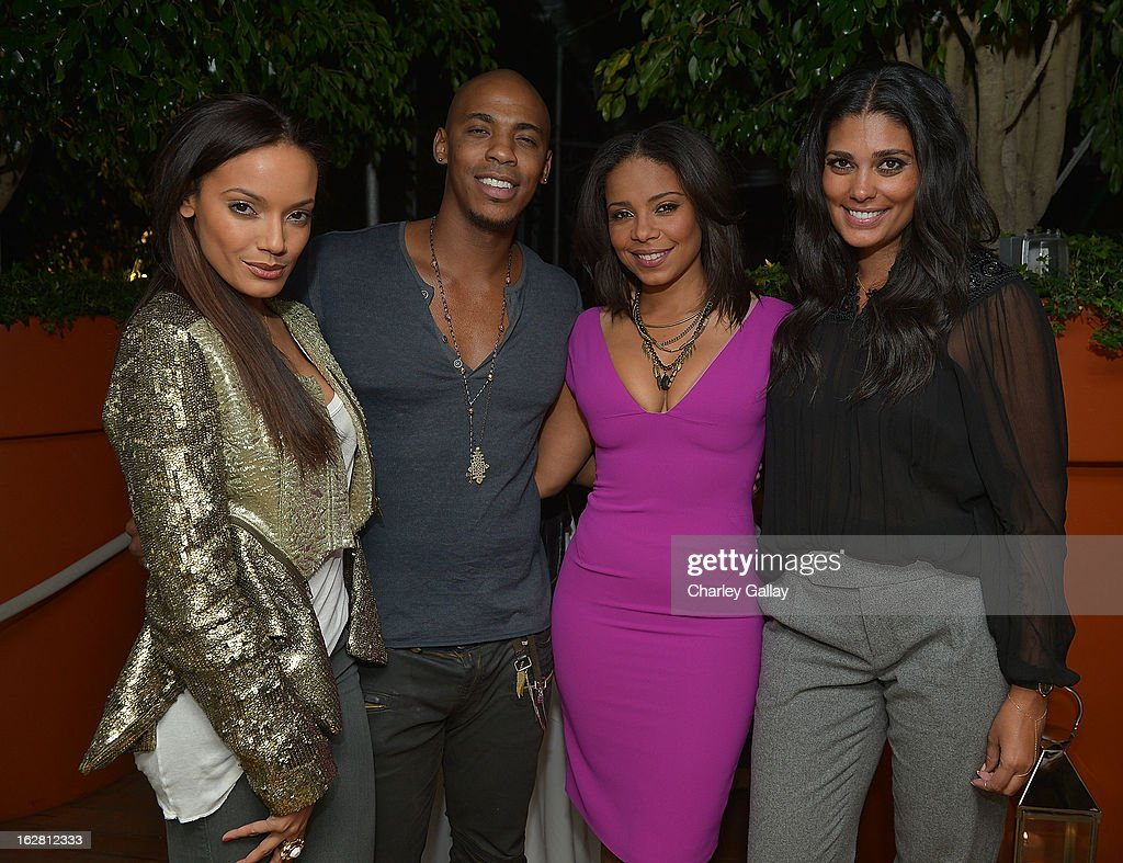 Model <a gi-track='captionPersonalityLinkClicked' href=/galleries/search?phrase=Selita+Ebanks&family=editorial&specificpeople=619483 ng-click='$event.stopPropagation()'>Selita Ebanks</a>, actor Mechad Brooks, actress <a gi-track='captionPersonalityLinkClicked' href=/galleries/search?phrase=Sanaa+Lathan&family=editorial&specificpeople=236021 ng-click='$event.stopPropagation()'>Sanaa Lathan</a> and designer Rachel Roy, attend Rachel Roy Celebrates the New Host of 'Fashion Star' Louise Roe at Mondrian Los Angeles on February 27, 2013 in West Hollywood, California.