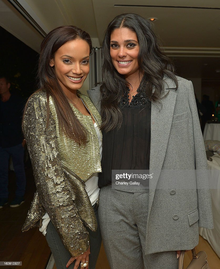 Model <a gi-track='captionPersonalityLinkClicked' href=/galleries/search?phrase=Selita+Ebanks&family=editorial&specificpeople=619483 ng-click='$event.stopPropagation()'>Selita Ebanks</a> (L) and designer Rachel Roy attend Rachel Roy Celebrates the New Host of 'Fashion Star' Louise Roe at Mondrian Los Angeles on February 27, 2013 in West Hollywood, California.
