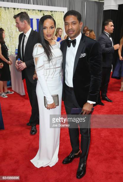 Model Selita Ebanks and Ryan Press at The 59th Annual GRAMMY Awards at STAPLES Center on February 12 2017 in Los Angeles California