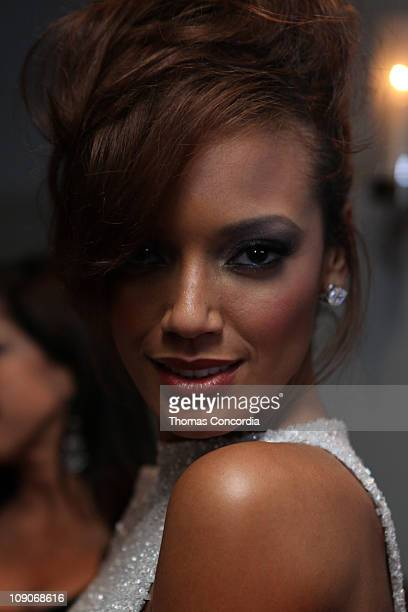 Model Selita Ebanks at the Marc Bouwer Fall 2011 3D presentation during MercedesBenz Fashion Week at Soho House on February 13 2011 in New York City