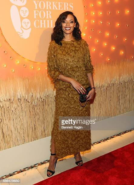 Model Selita Ebanks attends 15th Annual New Yorkers For Children Gala at Cipriani 42nd Street on September 30 2014 in New York City