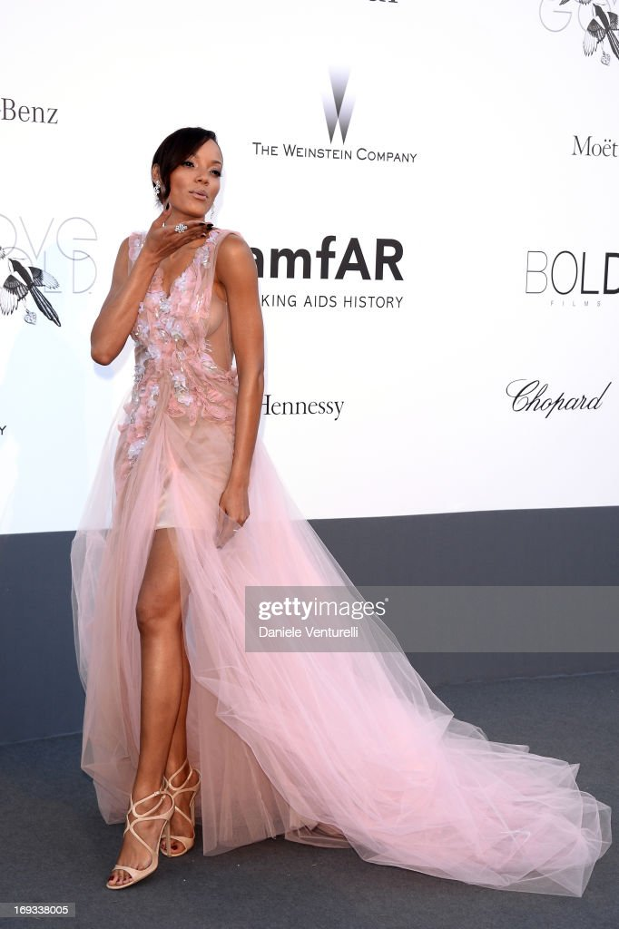 Model Selita Ebanks attends amfAR's 20th Annual Cinema Against AIDS during The 66th Annual Cannes Film Festival at Hotel du Cap-Eden-Roc on May 23, 2013 in Cap d'Antibes, France.