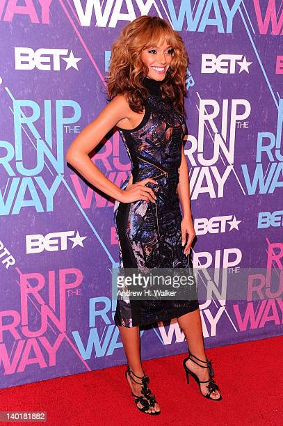 Model Selita Ebanks attends BET's Rip the Runway 2012 at Hammerstein Ballroom on February 29 2012 in New York City