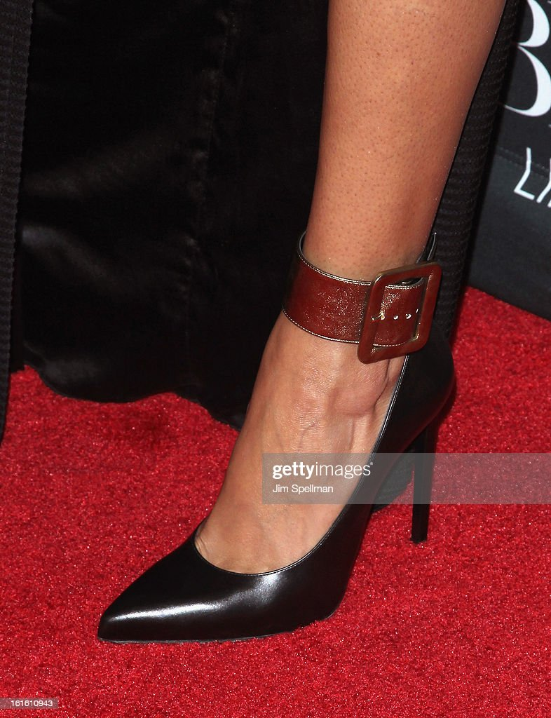 Model Selita Ebanks (shoe detail) attends 'Beyonce: Life Is But A Dream' New York Premiere at Ziegfeld Theater on February 12, 2013 in New York City.