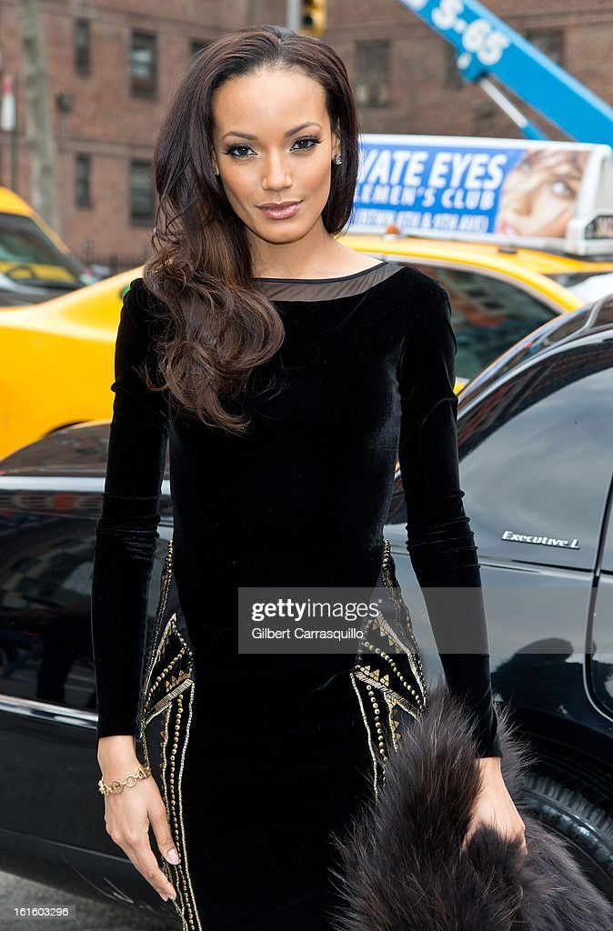 Model Selita Ebanks attends Fall 2013 Mercedes-Benz Fashion Show at The Theater at Lincoln Center on February 12, 2013 in New York City.