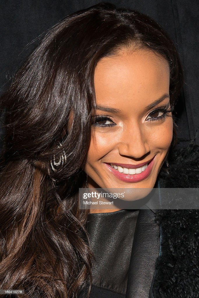 Model Selita Ebanks attends STK Midtown 1-Year Anniversary dinner party on January 30, 2013 in New York City.