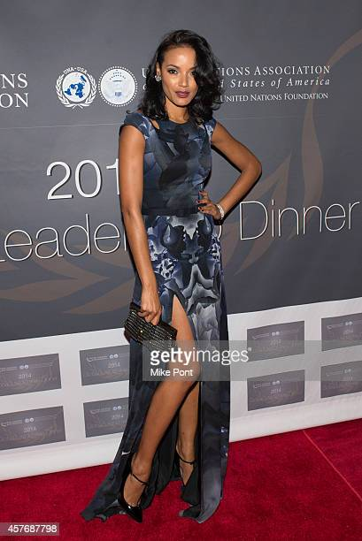 Model Selita Ebanks attends the 2014 Global Leadership Dinner at Cipriani 42nd Street on October 22 2014 in New York City