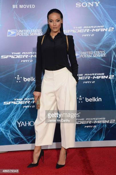 Model Selita Ebanks attends 'The Amazing SpiderMan 2' premiere at the Ziegfeld Theater on April 24 2014 in New York City