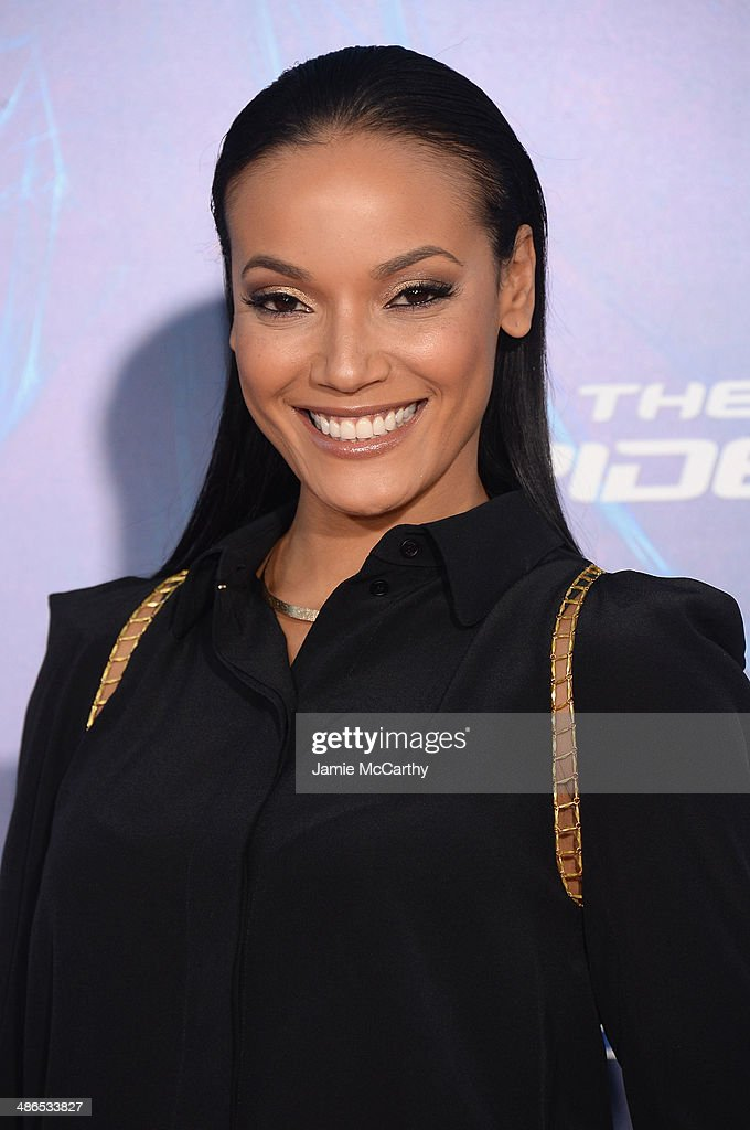 Model Selita Ebanks attends 'The Amazing Spider-Man 2' premiere at the Ziegfeld Theater on April 24, 2014 in New York City.