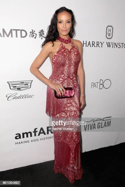 Model Selita Ebanks attends the amfAR Gala Los Angeles 2017 at Ron Burkle's Green Acres Estate on October 13 2017 in Beverly Hills California