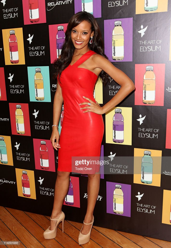 Model Selita Ebanks attends the Art Of Elysium 3rd Annual Paradis Event hosted by vitaminwater at Hotel Du Cap on May 15, 2011 in Antibes, France.