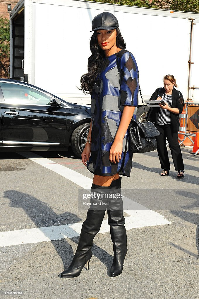 Model Selita Ebanks attends the BCBGMAXAZRIA Spring 2014 fashion show during Mercedes-Benz Fashion Week at The Theatre at Lincoln Cente on September 5, 2013 in New York City.