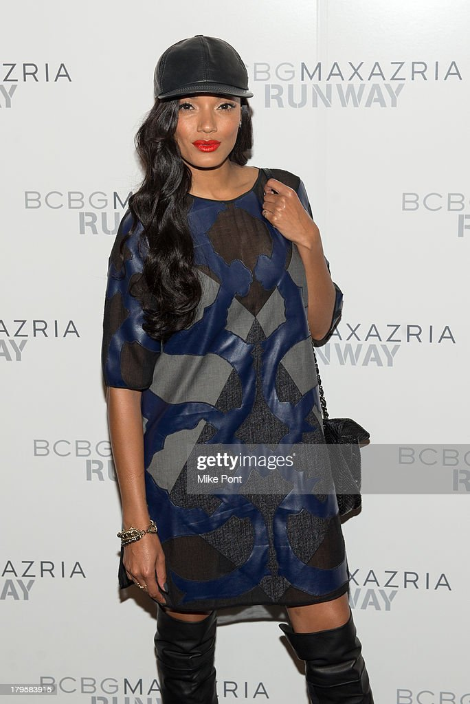 Model Selita Ebanks attends the BCBGMAXAZRIA Spring 2014 fashion show at The Theatre Lincoln Center on September 5, 2013 in New York City.