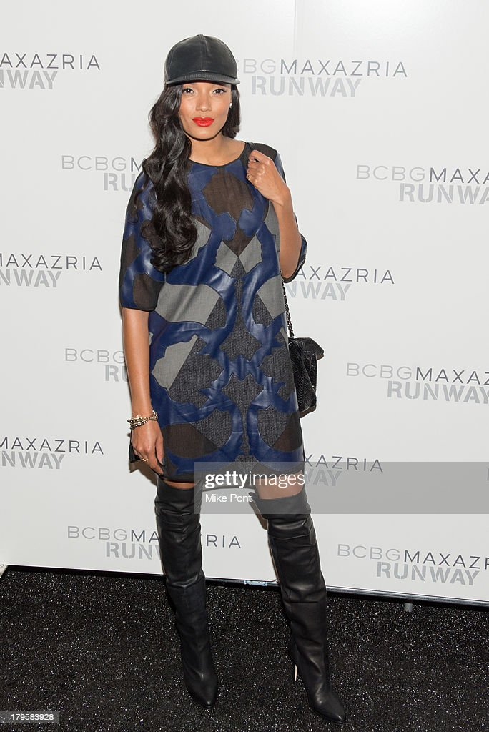 Model <a gi-track='captionPersonalityLinkClicked' href=/galleries/search?phrase=Selita+Ebanks&family=editorial&specificpeople=619483 ng-click='$event.stopPropagation()'>Selita Ebanks</a> attends the BCBGMAXAZRIA Spring 2014 fashion show at The Theatre Lincoln Center on September 5, 2013 in New York City.