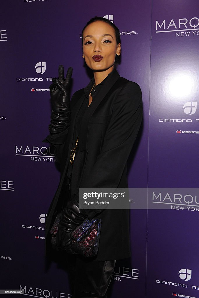 Model Selita Ebanks attends the grand opening of Marquee New York on January 16, 2013 in New York City.