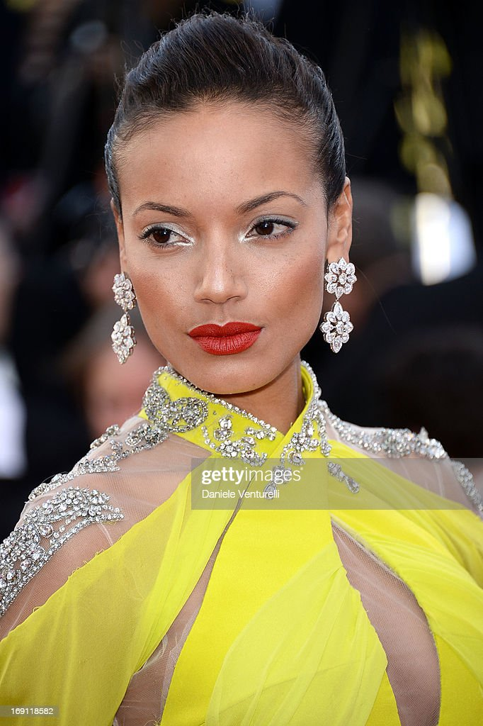 Model Selita Ebanks attends the Premiere of 'Blood Ties' during the 66th Annual Cannes Film Festival at the Palais des Festivals on May 20, 2013 in Cannes, France.