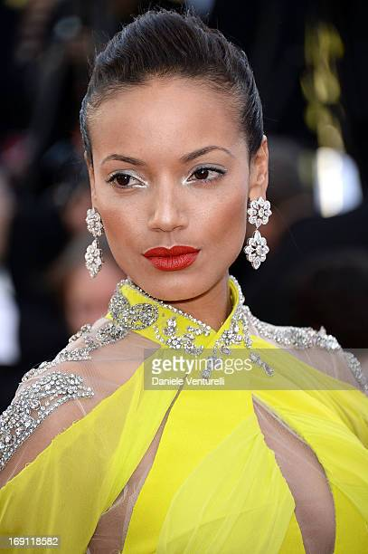 Model Selita Ebanks attends the Premiere of 'Blood Ties' during the 66th Annual Cannes Film Festival at the Palais des Festivals on May 20 2013 in...