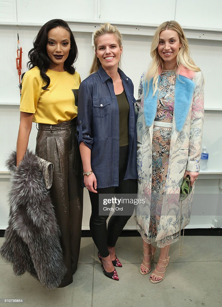 Model Selita Ebanks, fashion designer Georgine Ratelband and TV personality Whitney Port attend the Georgine Fall 2016 fashion show during New York Fashion Week: The Shows at The Gallery, Skylight at Clarkson Sq on February 16, 2016 in New York City.