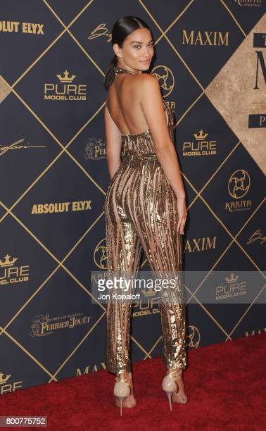 Model Shanina Shaik arrives at The 2017 MAXIM Hot 100 Party at Hollywood Palladium on June 24 2017 in Los Angeles California
