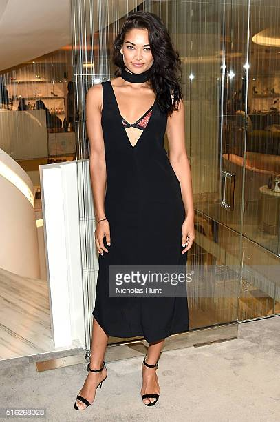 Model Shanina Shaik attends as Barneys New York celebrates its new downtown flagship in New York City on March 17 2016 in New York City