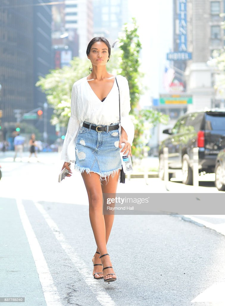 Model Shanina Shaik attends castings for the 2017 Victoria's Secret Fashion Show on August 22, 2017 in New York City.