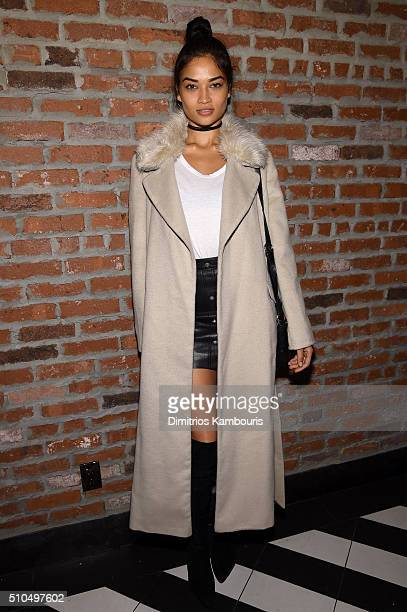 Model Shanina Shaik attends IMG Models Celebrates The Sports Illustrated Swimsuit issue at Vandal on February 15 2016 in New York City