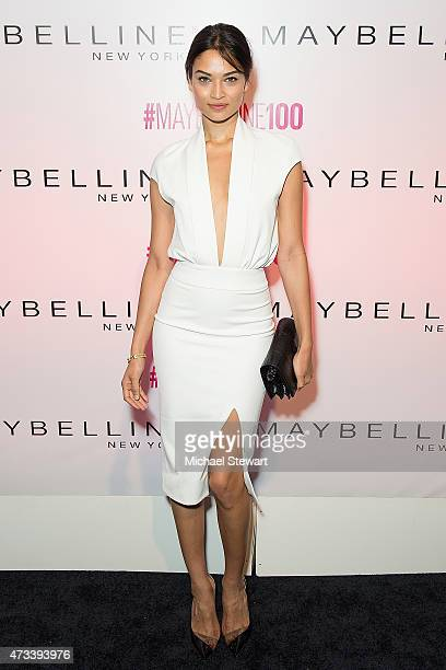 Model Shanina Shaik attends Maybelline New York's 100 Year Anniversary at IAC Building on May 14 2015 in New York City