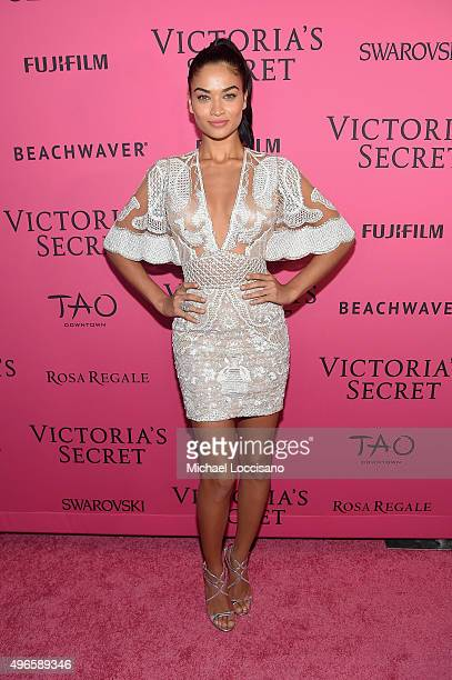 Model Shanina Shaik attends the 2015 Victoria's Secret Fashion After Party at TAO Downtown on November 10 2015 in New York City