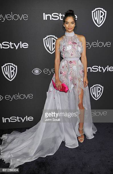 Model Shanina Shaik attends The 2017 InStyle and Warner Bros 73rd Annual Golden Globe Awards PostParty at The Beverly Hilton Hotel on January 8 2017...