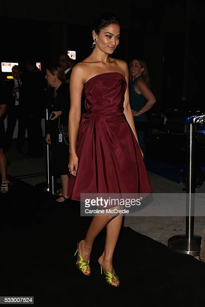 Model Shanina Shaik attends the Oscar de la Renta show presented by Etihad Airways at MercedesBenz Fashion Week Resort 17 Collections at...