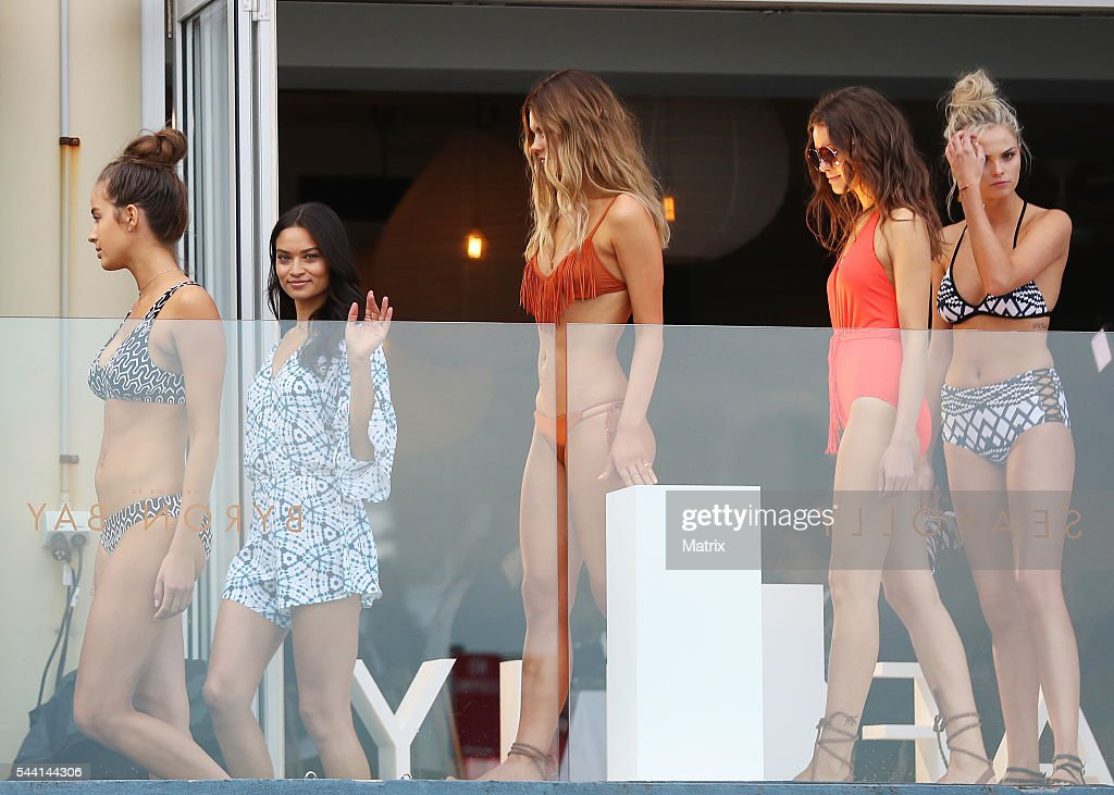 Model <a gi-track='captionPersonalityLinkClicked' href=/galleries/search?phrase=Shanina+Shaik&family=editorial&specificpeople=5556870 ng-click='$event.stopPropagation()'>Shanina Shaik</a> is seen at North Bondi for a Seafolly event on June 30, 2016 in Sydney, Australia.