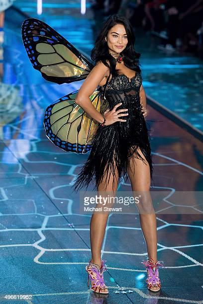 Model Shanina Shaik walks the runway during the 2015 Victoria's Secret Fashion Show at the Lexington Armory on November 10 2015 in New York City