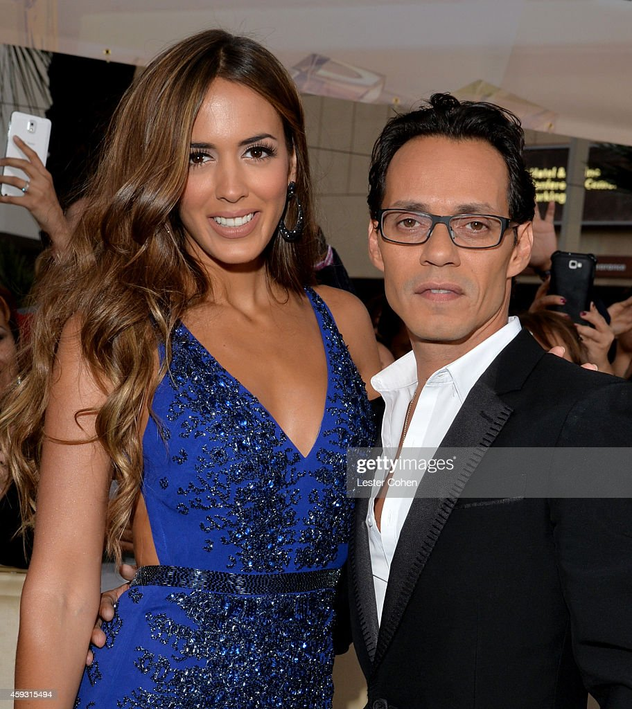 Model Shannon De Lima and and recording artist Marc Anthony attend the 15th annual Latin GRAMMY Awards at the MGM Grand Garden Arena on November 20...