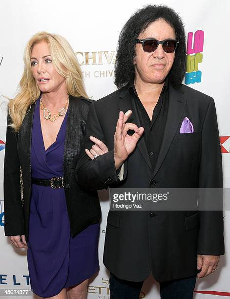 Model Shannon Tweed and musician Gene Simmons attend The British American Business Council Los Angeles 54th Annual Christmas Luncheon at Fairmont...