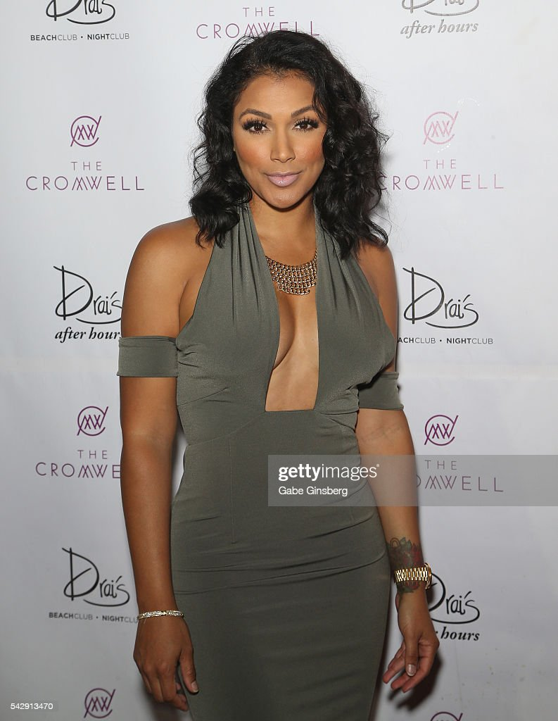 Model <a gi-track='captionPersonalityLinkClicked' href=/galleries/search?phrase=Shantel+Jackson&family=editorial&specificpeople=7528405 ng-click='$event.stopPropagation()'>Shantel Jackson</a> arrives at Drai's Beach Club - Nightclub at The Cromwell Las Vegas on June 25, 2016 in Las Vegas, Nevada.