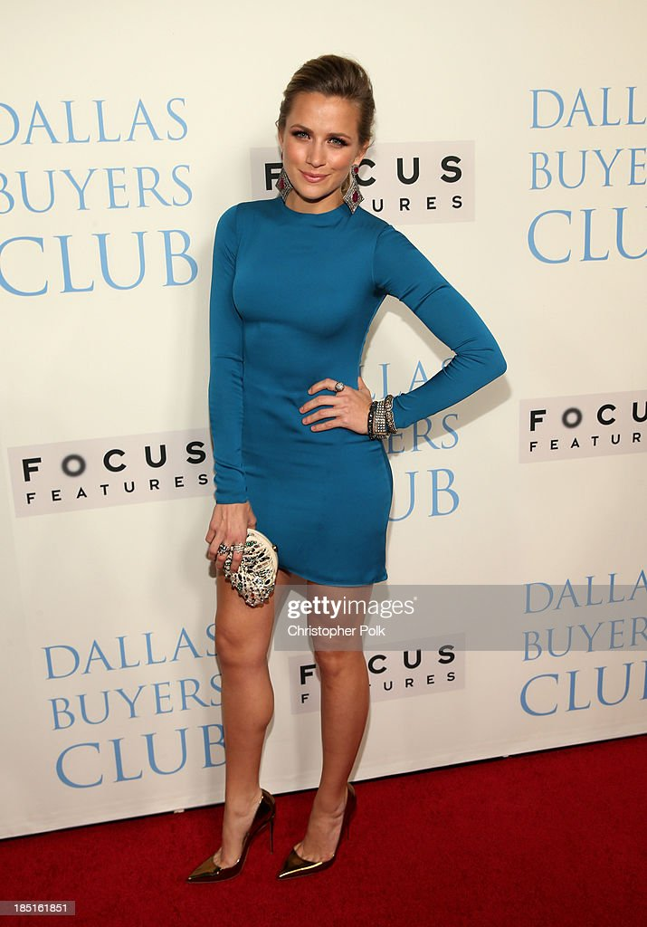 Model Shantel VanSanten attends Focus Features' 'Dallas Buyers Club' premiere at the Academy of Motion Picture Arts and Sciences on October 17, 2013 in Beverly Hills, California.