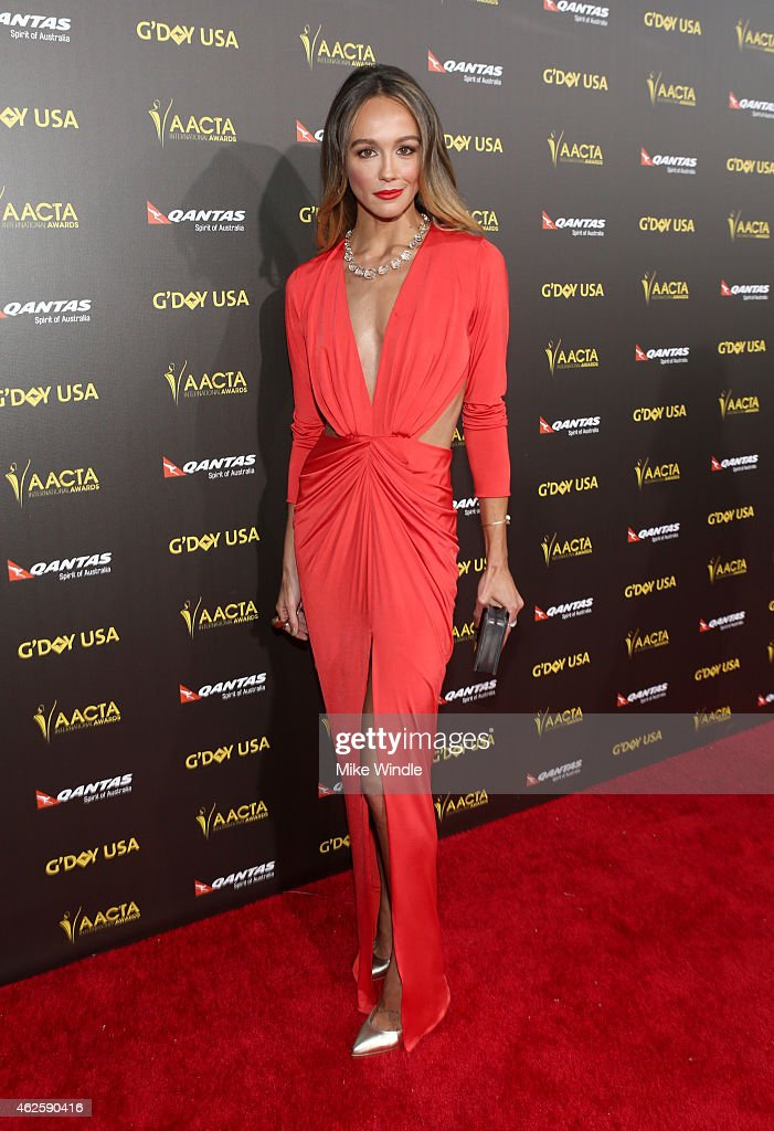 Model Sharni Vinson attends the 2015 G'Day USA GALA featuring the AACTA International Awards presented by QANTAS at Hollywood Palladium on January 31, 2015 in Los Angeles, California.